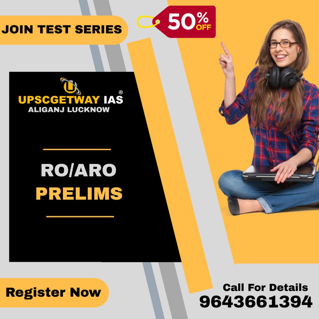 RO- ARO Prelims Test Series